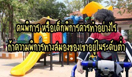 คนพิการ หรือเด็กพิการควรทำอย่างไรถ้าความพิการทางสมองของเขาอยู่ในระดับต่ำ