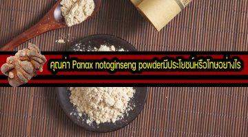 คุณค่า Panax notoginseng powderมีประโยชน์หรือโทษอย่างไร